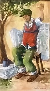 """andre-de-beer--&quotwaving-newspaper-seller"""""""