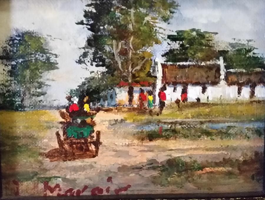luther-marais--donkey-cart