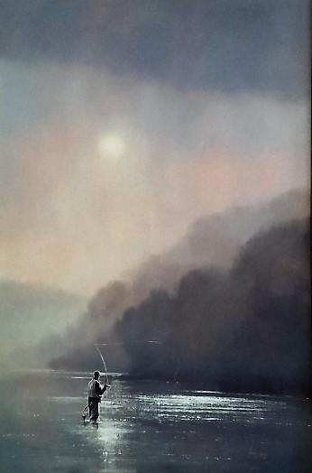 ignatius-marx--fly-fishing-pink-background