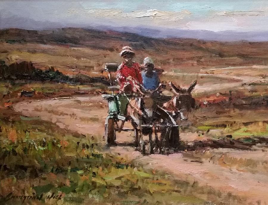 christiaan-nice--donkey-cart-red-shirt