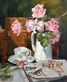 johan-kok--pink-flowers-in-vase