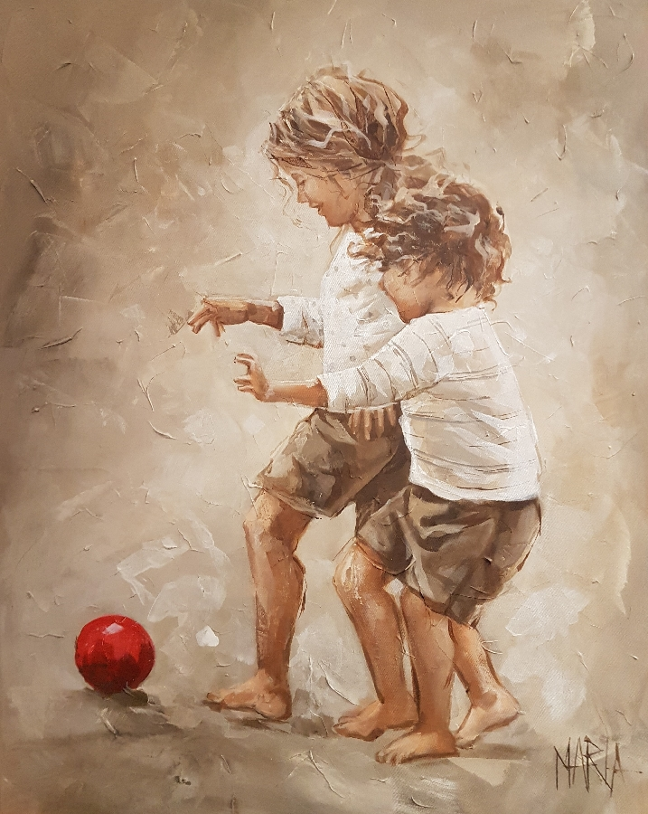 maria--children-with-red-ball