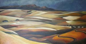 painting size 80cm x 80cm john botham 01 autumn cape landscape sold