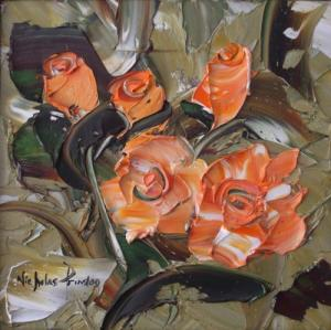 Nicholas Prinsloo 011 - Orange roses I ~ Painting SOLD ~